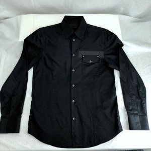 Diesel Black Gold Shirt w/ Pocket Detail, 48 or M
